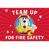 2015 Sparky's Team Up for Fire Safety Flag