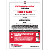 NFPA 70, National Electrical Code (NEC) or Handbook Self-Adhesive Index Tabs