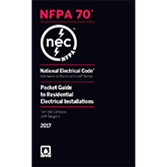 2017 NEC Pocket Guide to Residential Electrical Installations - Current Edition