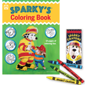 Sparky\'s Coloring Book and Crayons Set