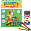 2014 Sparky's Coloring Book and Crayons Set