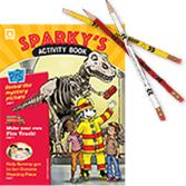 2014 Sparky's Activity Book and Pencils Value Pack