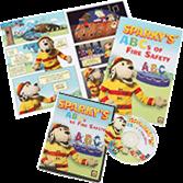 Sparky's ABCs of Fire Safety DVD + Sparky's ABCs of Fire Safety Comic Books Set
