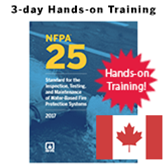 2017 NFPA 25: 3-Day Hands-on Training - Canada