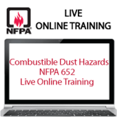 Combustible Dust Hazard – NFPA 652 Live Online Training