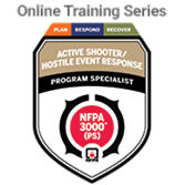 NFPA 3000 (PS): Active Shooter/Hostile Event Response; Plan, Respond, Recover Program Specialist Online Training