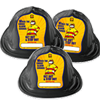 New 3-Pack Set of Sparky Fire Hats - Black