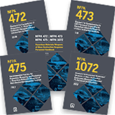 2018 NFPA 472, NFPA 473, NFPA 475, and NFPA 1072 Hazardous Materials/WMD Response Set - Current Ed.