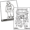 Firefighter and Sparky Coloring Pads Bundle