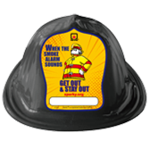 Fire Prevention Week Sparky the Fire Dog Hats - Black