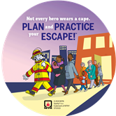 2019 Fire Prevention Week Stickers (City)
