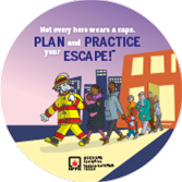 2019 Fire Prevention Week Print Your Own T-Shirt Decal PDF (City)