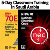 NFPA 70 (2020) Essentials and NFPA 70E (2018) Classroom Training – Saudi Arabia