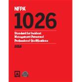 2018 NFPA 1026 Standard - Current Edition