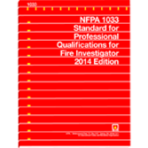 2014 NFPA 1033 Standard - Current Edition