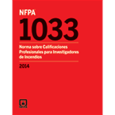2014 NFPA 1033 Standard, Spanish - Current Edition