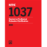 2016 NFPA 1037 Standard - Current Edition