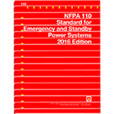2016 NFPA 110 Standard - Current Edition