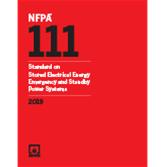 2019 NFPA 111 Standard - Current Edition