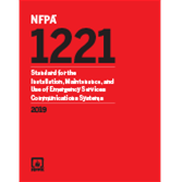2019 NFPA 1221 Standard - Current Edition