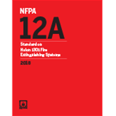 2018 NFPA 12A Standard - Current Edition