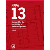 2016 NFPA 13 Standard - Current Edition