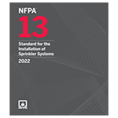 2022 NFPA 13 Standard - Current Edition