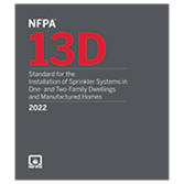 2022 NFPA 13D - Current Edition