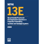 2020 NFPA 13E Recommended Practice - Current Edition
