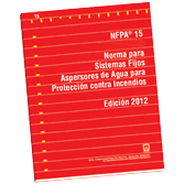 NFPA 15: Standard for Water Spray Fixed Systems for Fire Protection, Spanish