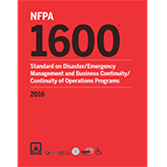 2016 NFPA 1600 Standard - Current Edition