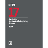 2021 NFPA 17 Standard - Current Edition