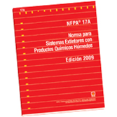 NFPA 17A: Standard for Wet Chemical Extinguishing Systems, Spanish