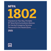 2021 NFPA 1802 Standard - Current Edition