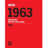 2019 NFPA 1963 Standard - Current Edition
