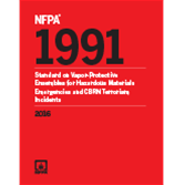 2016 NFPA 1991 Standard - Current Edition