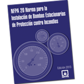 NFPA 20: Standard for the Installation of Stationary Pumps for Fire Protection, Spanish