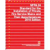 2016 NFPA 24 Standard - Current Edition