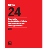 2019 NFPA 24 Standard - Current Edition