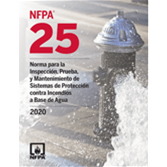 2020 NFPA 25, Spanish - Current Edition