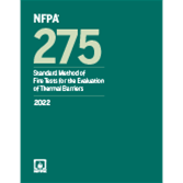 2022 NFPA 275 Standard - Current Edition