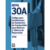 2018 NFPA 30A, Spanish - Current Edition