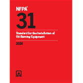 2016 NFPA 31 Standard - Current Edition