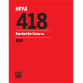 2016 NFPA 418 Standard for Heliports - Current Edition