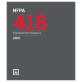 2021 NFPA 418 Standard for Heliports - Current Edition