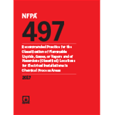 2017 NFPA 497 Recommended Practice - Current Edition