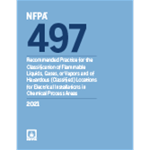 2021 NFPA 497 Recommended Practice - Current Edition