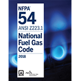 2018 NFPA 54/ANSI Z223.1 Code - Current Edition