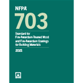2021 NFPA 703 Standard - Current Edition