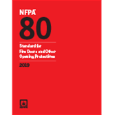2019 NFPA 80 Standard - Current Edition